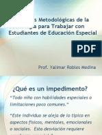 Estrategias Metodologicas de La Tecnologia Para Trabajar Con Estudiantes de Educacion Especial