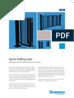 Quick Folding Gate 2p GB Hi