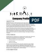 Sidewalk Company Profile