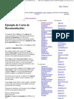 Ejemplo de Carta de Recomen..