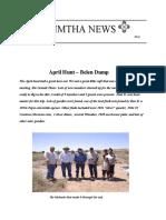 NMTHA News May
