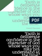 Faith is..