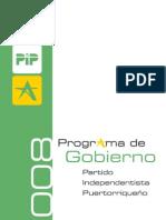 Programa del Partido Independentista Puertorriqueño 2008-2012