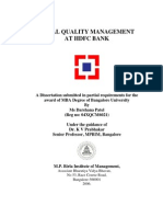 HDFC Project on TQM