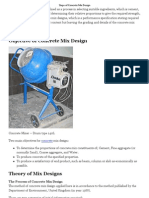 Steps of Concrete Mix Design