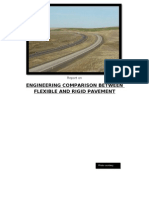Report on  ENGINEERING COMPARISON BETWEEN FLEXIBLE AND RIGID PAVEMENT