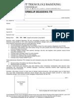 Formulir Beasiswa ITB