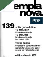 Gubaidulina_Ten Preludes 1999