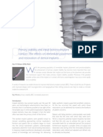 The Effects on Inmediate Placement and Restoration of Dental Implants