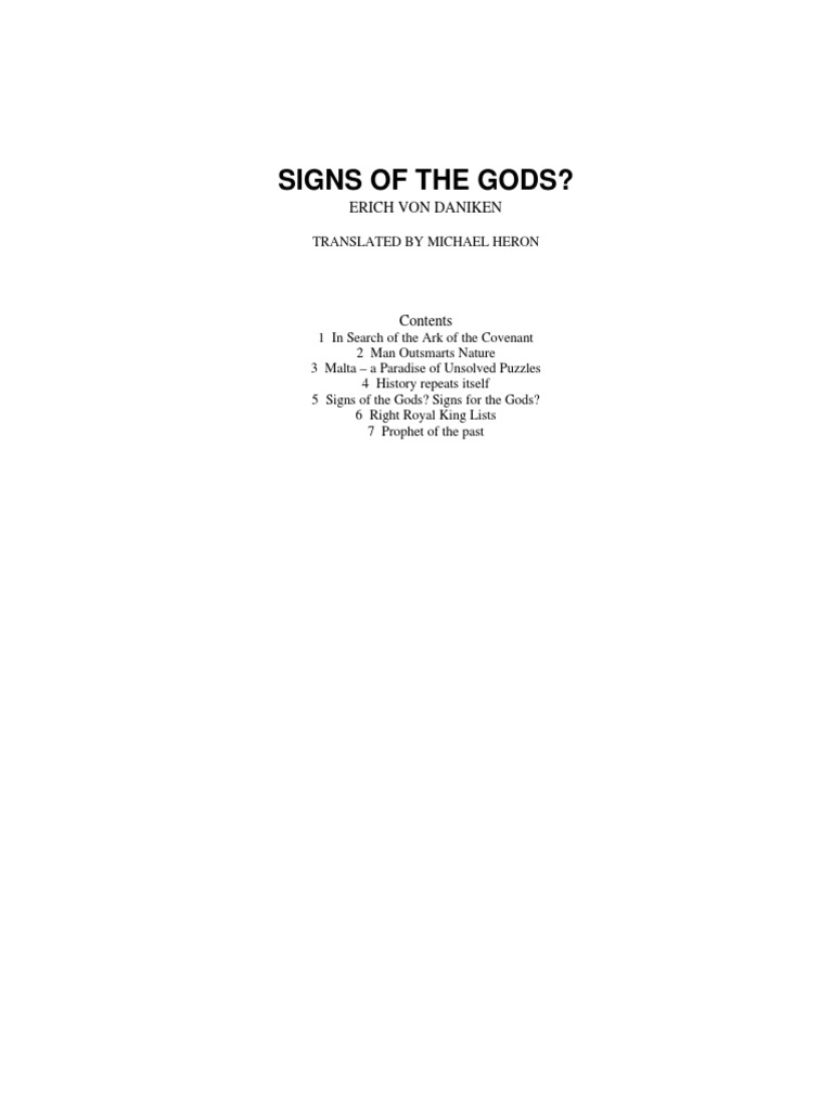 Signs of the Gods - Erich Von Daniken | Ark Of The Covenant | Jeremiah