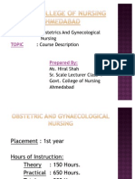 OBGY Nursing Course Description
