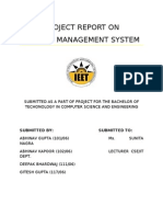 Project Report on Vehicle Management System