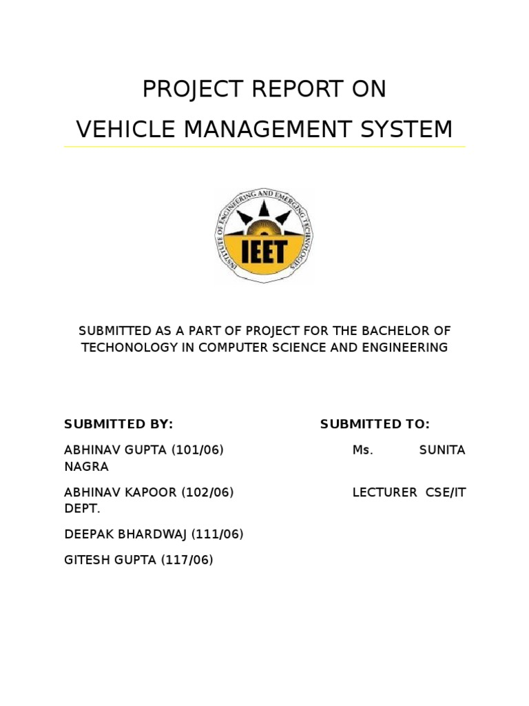 Project report on vehicle management system class computer project report on vehicle management system class computer programming inheritance object oriented programming ccuart Choice Image