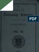 Trinity College Calendar 1906