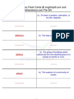 TOEFL IBT Vocabulary Flash Cards01