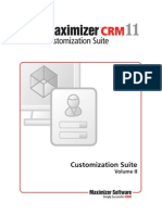 Maximizer CRM 11 Customization Manual