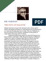 R K Narayan Biography Note