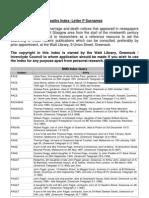 BMD Index Letter P Surnames