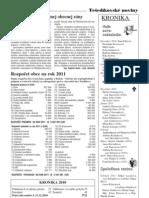 Tešedíkovské noviny - 2011. apríl