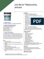 Datasheet - Waterproofing HydroBarrierTDS(1)
