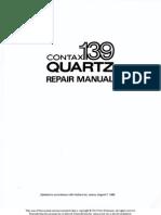Contax 139 Repair Manual