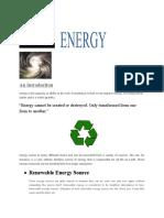 Physics Project - Energy