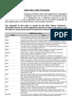 BDM Index - Letter-G-Surnames