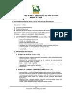 Manual de aprovação de projetos de arquitetura