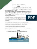 Basic Mechanical Engineering Model I Key