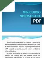 MINICURSO NORMAS APA