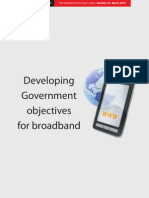 Developing Government objectives for broadband