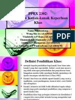 PPEX 2302 Pendidikan Kanak2 Keperluan Khas