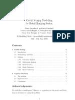 Elena Bartolozzi Matthew Cornford - Credit Scoring Modelling for Retail Banking Sector