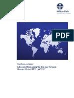 Libya and Human Rights- The Way Forward