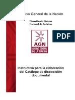 Instructivo Catalogo de Disposicion Abril06
