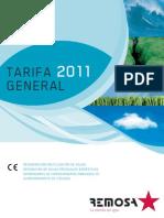 Remosa - Tarifa General 2011