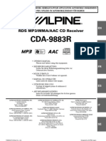 Notice Autoradio Alpine Cda-9883R