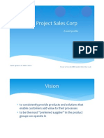 Project Sales Corp - Brief Profile