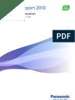 Panasonic Annual Report 2010