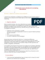 Chapitre 2 - Les Dimensions Socio-culturels Et Le Marketing International