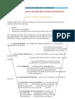 Chapitre 3 - Diagnostic et etudes des marchés internationaux