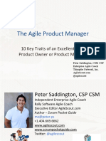 Product Owner 10 Key Traits Webinar - Peter Saddington