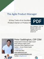 Product Owner 10 Key Traits Webinar - Peter Saddington