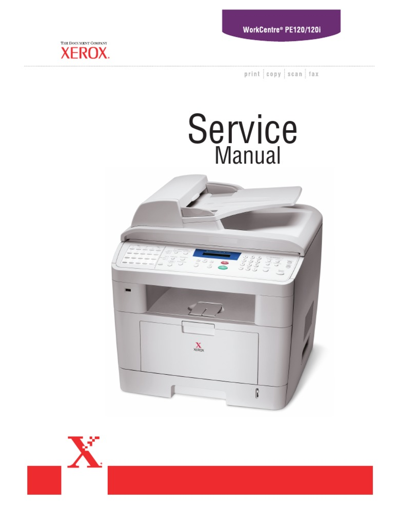 Xerox workcentre pe120 pe120i service manual | electrostatic.
