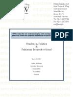 Students, Politics and Pakistan Tehreek-e-Insaf (Proposal)