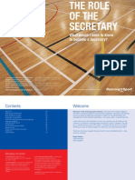Running Sport - Role of the Secretary