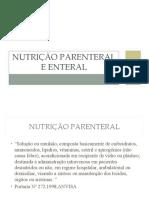 Nutrio Parenteral e Enteral