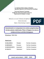 Caractérisation et comparaison du contenu polyphénolique