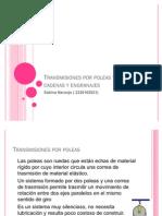 Transmisiones Por Poleas y Correas Cadenas y Engranajes