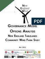 Governance Model Options Analysis
